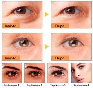 Rezultate masca de ochi cu colagen anti-rid